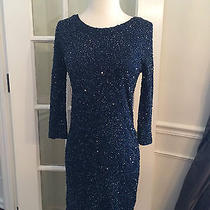 Haute Hippie Junk Sequin Dress Midnight Sz S Photo