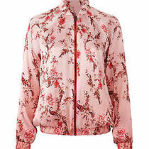 Haute Hippie Women's Jacket Pink Size Small S Floral Print Bomber 495- 257 Photo