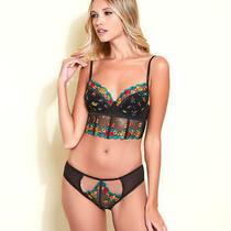 Hauty in Bloom Longline Bra and Panty Set Lingerie - Women's Photo