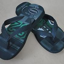 Havaianas Boy's College Sports Black Green Flip Flops Us 11/12 Brazil 27/28  Photo