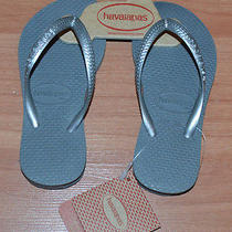 Havaianas Childrens Sandals Grey- 9/10c Us- New With Tags Photo