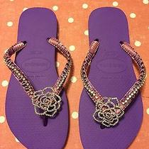 Havaianas Customized Sandals Size 7/8 Purple Photo