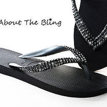 Havaianas Flip Flops Embellished With Swarovski Crystals Ultra Modern Couture Photo