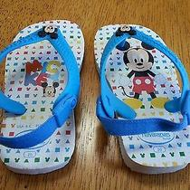 Havaianas Flip Flops Mickey Mouse Toddler Size 6 -Like New Photo