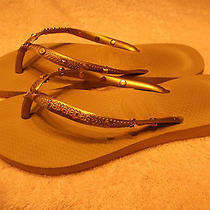 Havaianas Flip Flops - Name & Gold Studs - 37/38 Photo