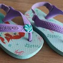 Havaianas Flip Flops Sandals Baby Size 19 Us 5c Eur 21 W/straps Ariel Model  Photo