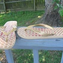 Havaianas  Gold Bronze  Red Dot 39-40 Us7 /8 Gold Rose Photo