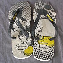 Havaianas Mickey Mouse Gray Nwot Size 9 Flip Flops Photo