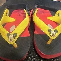 Havaianas Mouse Flip-Flops Size 6 Toddler Photo