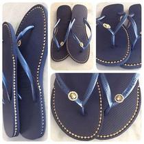 Havaianas Sandals With Custom Rhinestone Chain Inlay. Photo