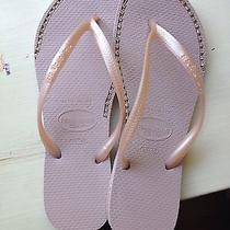 Havaianas Sandals With Custom Rhinestone Chain Inlays Photo