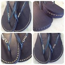 Havaianas Sandals With Custom Rhinestone Chain Inlays... Photo