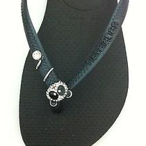 Havaianas Slim Black With Bear Women's Sandal Flip Flops Brazil Size 35/36 Photo