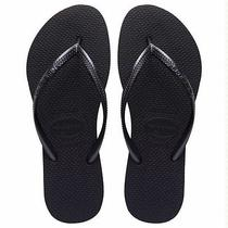 Havaianas Slim Black Women's Sandal Flip Flops Brazil Size 35/36 Photo