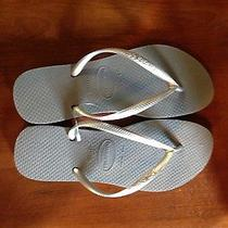 Havaianas Slim Sandals Gray  New Women's Size 7-8 Photo