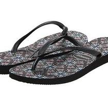 Havaianas Slim Trendy Black Womens Thong Size 6 M Photo