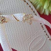Havaianas Slim White With Rhinestone and Jewelry  Photo