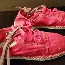 Havaianas Sneaker Espadrille Fushia Pink Size 7 W - 6 M Brand New Canvas Suede  Photo