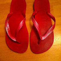 Havaianas Top Pink Metallic Size 7/8 Photo