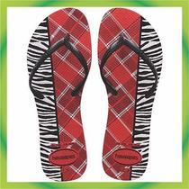 Havaianas Women Flat Mix Red Apache Usa 7/8 Br 37/38 Eur 39/40 Photo