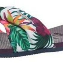 Havaianas Womens Flip Flops Aubergine You St Tropez Sandals Size 9-10 Photo