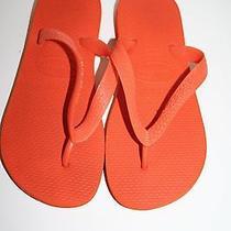 Havaianas Women's Orange Flip Flops Size Us 4/5 Photo