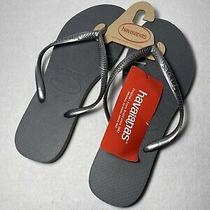 Havaianas Womens Steel Gray Thong Flats Flip-Flops Sandals 9/10w Nwt Photo