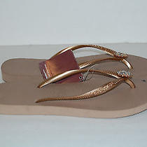 Havaianas Womens Taupe Sandals Shoe Size 39 - 40 Photo