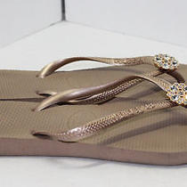 Havaianas Womens Taupe Sandals Shoe Size 6 Photo