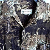 Havana Jack's Cafe Hawaiian Tropical Shirt Brown Small  Type Looks Vtg Photo