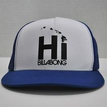 Hawaii Billabong Trucker-Style Blue / White Adjustable Cap / Hat - Mesh Snapback Photo