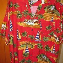 Hawaiian Shirt Basix Original Men's  Size Xl Short Sleeve Bright Colors Photo