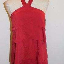 Hawks Geren Ford Urban Outfitters Red Halter Layer Dress Sz S Nwt  Photo