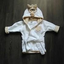 Hb Hudson Baby Infant Nerdy Giraffe W/glasses Hooded Bath Robe 0-9 M Mo Months Photo