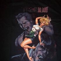 Hbo True Blood T-Shirt Large  New J. Scott Campbell Comic Art Vampire Photo