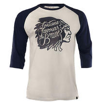 Headrush Fortune Favours the Brave Chief Henley Shirt - Small - White Photo