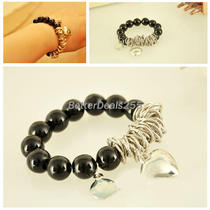 Heart Imitation Pearl Lovely Beads Bracelet New Fashion Women's 1pcs Photo