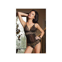 Heart of Gold Teddy 1351 by Coquette Black/gold One Size Fits All Photo