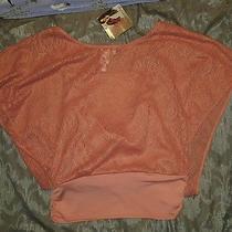 Heart Soul Pink Layered Tank Mesh Shirt Cute Medium Bat Wing Lattice Blush M Photo