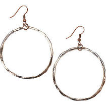 Heather Pullis Designs Rose Gold Plated Hoops - Rose Photo
