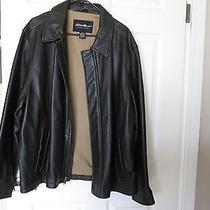 Heavy Genuine Leather Eddie Bauer Motorcycle Jacket Coat Nice Photo