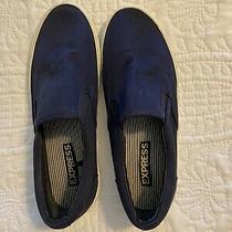 Heel Slip on Shoes Loafers Mens Size 9 Express Blue Photo
