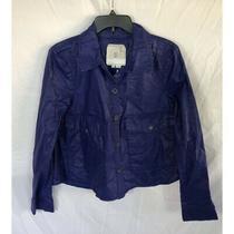 Hei Hei Anthropologie Blue Coated Utility Jacket Size S Photo