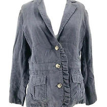 Hei Hei Anthropologie Women's Gray Linen Long Sleeve Button Front Jacket Size 12 Photo