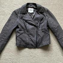 Hei Hei From Anthropologie Womens Gray Polyurethane Jacket Size M Photo