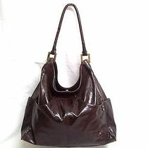 Helen Welsh Large Brown Leather Hobo Bag / Big Brown Leather Minimalistic Tote Photo