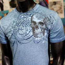 Helix Brand Outlaw Skulls Shop Mma Muscle Biker Ufc Express Lucky T-Shirt Men S Photo