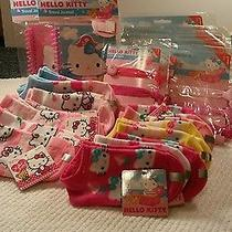 Hello Kitty 30 Item Lot Socks Hair Bands Note Pads Nwt Parties Gift Bags Photo