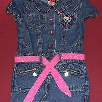 Hello Kitty 4t Toddler Cotton Denim Dress W/accents of Zipper Pullssnaps & Belt Photo