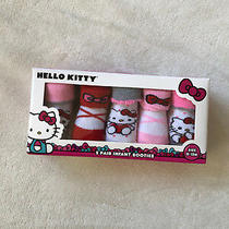 Hello Kitty 5 Pair Infant Booties Size 0-12m Photo
